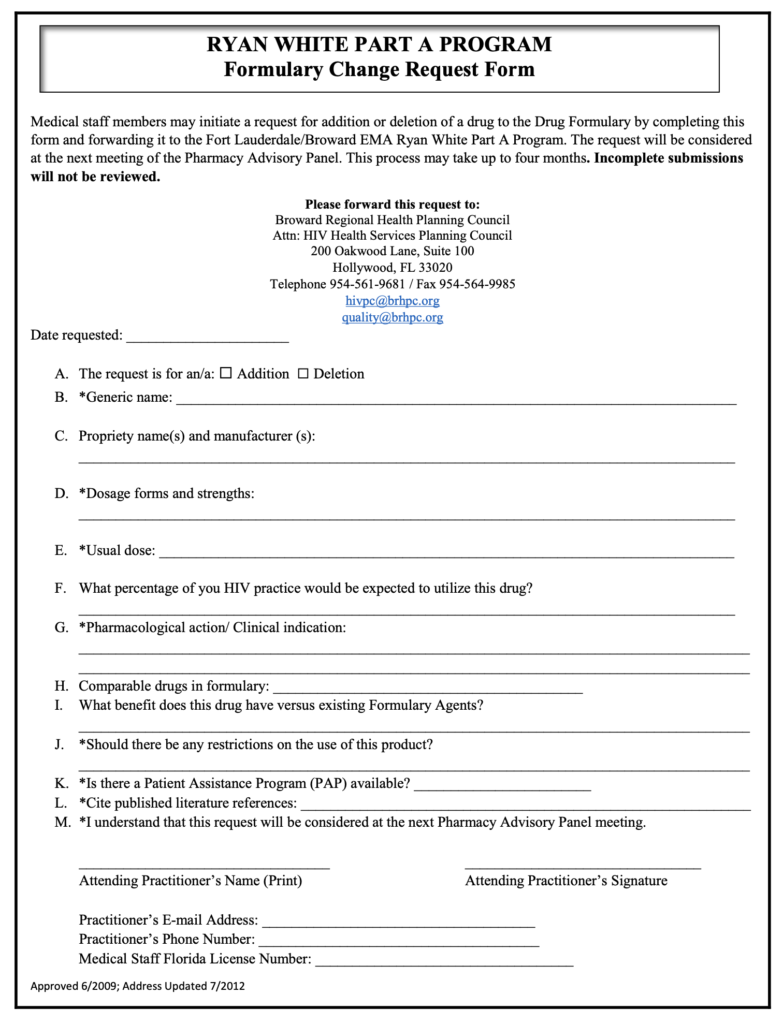 RWPA-Formulary-Change-Request-Form